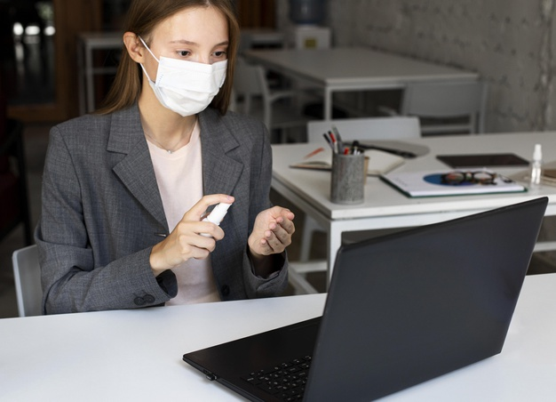 cuidados no trabalho durante a pandemia